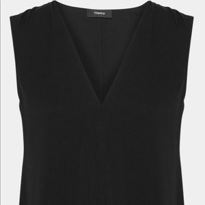 Theory Stunning Black A-Line Silhouette Tunic Top